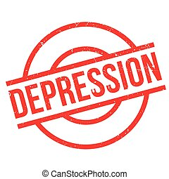 Depression rubber stamp