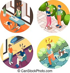 Depression Stress Isometric Concept - Depression anxiety 4 ...