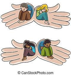 Depression Support Hands