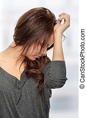 Depression - Young woman with depression