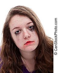 Depressive young girl