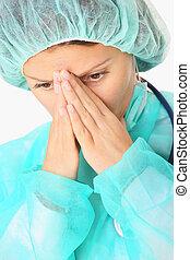 deprimido, cirujano