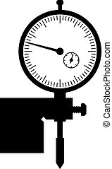 Depth gauge, shade picture