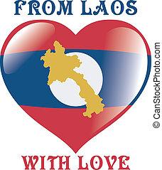 depuis, laos, à, amour