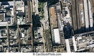 depuis, tokyo, à, espace