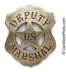 Deputy Marshal Badge - US Sheriff Debuty Marshals Badge...