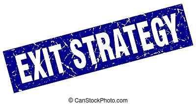 derékszögben, grunge, kék, kijárat, stratégia, bélyeg