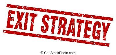 derékszögben, grunge, piros, kijárat, stratégia, bélyeg