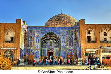 derékszögben, irán, naqsh-e, mecset, lotfollah, sejk, jahan, isfahan