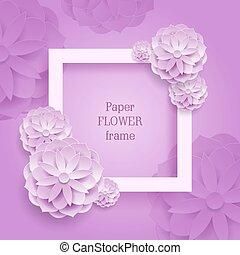 derékszögben, keret, újság virág, háttér, ezüst