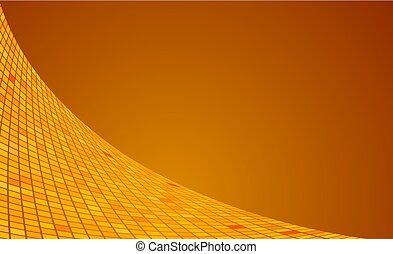 derékszögben, lenget, indítvány, vektor, háttér, narancs