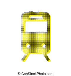derékszögben, motívum, cégtábla., sárga, másolat, kiképez, vector., ikon