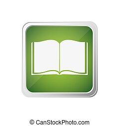 derékszögben, színes, keret, jegyzetfüzet, tiszta, nyílik, gombol