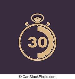 wohnung 30 minuten uhr sekunden zeichen zeitgeber web symbol ui countdown uhr. Black Bedroom Furniture Sets. Home Design Ideas