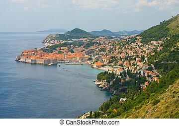 der, alte stadt, von, dubrovnik, kroatien