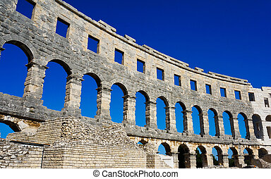 der, altes , amphitheater, in, pula, -, kroatien