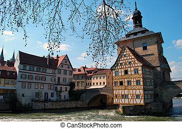 der, altes rathaus, von, bamberg, deutschland