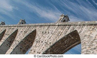 der, aquädukt, aguas, livres, portuguese:, aqueduto, das,...