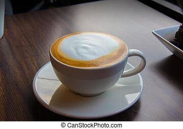 der, becher, von, coffee.