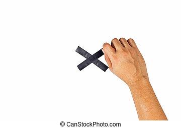 der, begriff, von, hände, gleichfalls, über, zu, aufgenommen, zu, a, schwarz, cross.
