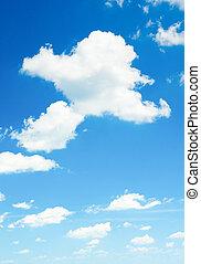 der, blauer himmel, mit, wolkenhimmel, hintergrund