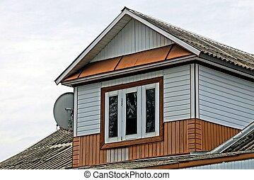 Der, Dachgeschoss, Mit, A, Fenster, In, Der, Altes ,