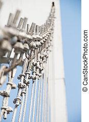 der, draht, metall, hängebrücke