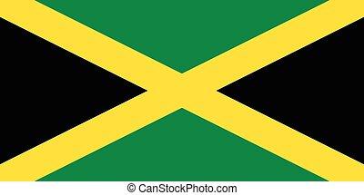 der, jamaika, offiziell, fahne