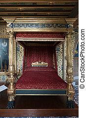 der, königlich, chateau, de, blois., inneneinrichtung, von,...