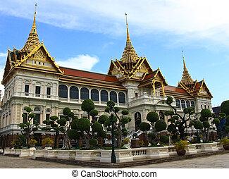 der, königlich, großartiger palast, bangkok, thailand