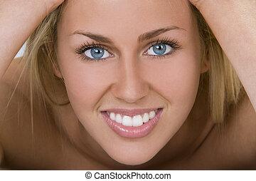der, meisten, schöne , weibliche , lächeln
