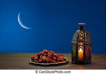 der, moslem, fest, von, der, heilig, monat, von, ramadan,...