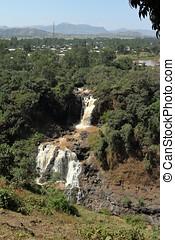 der, nil, wasserfall, tisissat, in, äthiopien