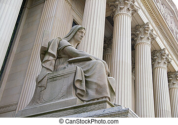 der, obergerichtshof ogh, gebäude, in, washington, dc