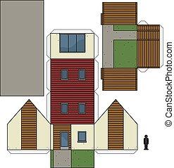 Marvelous Der, Papier, Modell Hauses