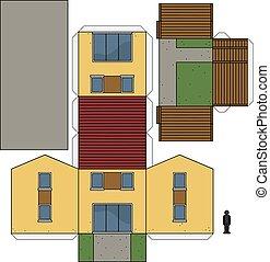 Elegant Der, Papier, Modell Hauses