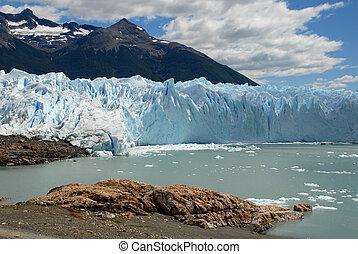 der, perito, moreno gletscher, in, patagonia, argentina.