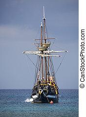 der, pirat, schiff