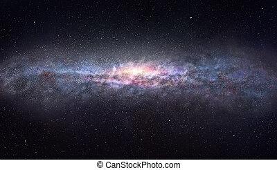 der, rand, von, der, galaxie