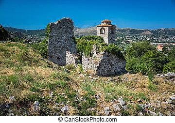 der, ruinen, von, alte stadt, bar, montenegro