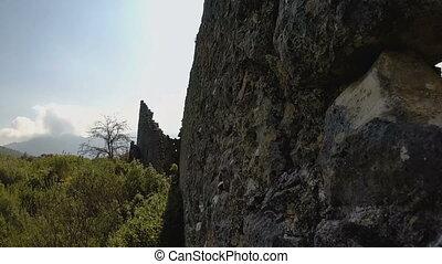 der, ruinen, von, der, uralt, griechischer , und, römisches...