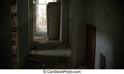der, ruinen, von, ein, verlassenes gebäude