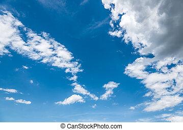 der, schöne , wolkenhimmel, in, der, blauer himmel, von, thailand