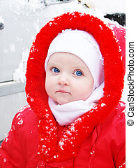 der, schnee, m�dchen