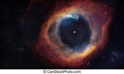 der, spirale, nebelfleck, in, tief, space., elemente, von, dieser, bild, möbliert, per, nasa