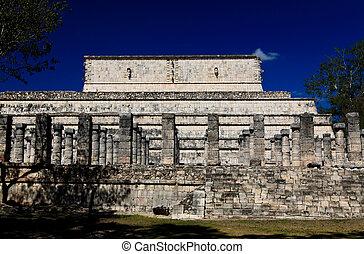 der, tempel, von, chichen itza, tempel