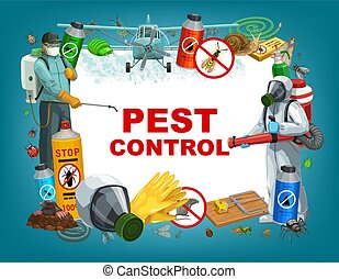 Deratization, insects disinsection pest control