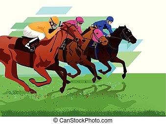 Derby Pferderennen.eps