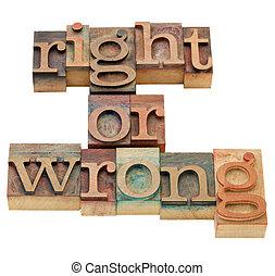 derecho, o, mal, moraleja, dilema