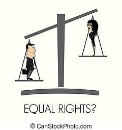derechos, igual
